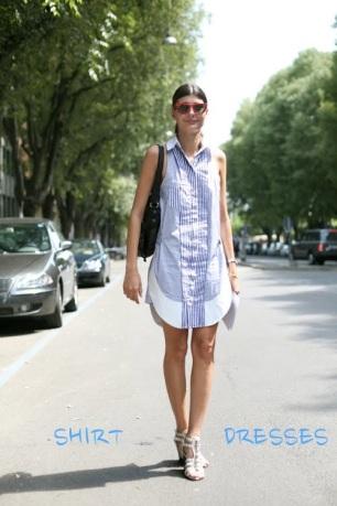 Dress - Shirt - High Heeled Sandals - White - Giovanna Battaglia