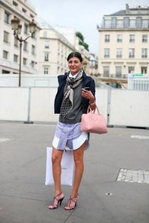 Dress - Shirt - Scarf - Strappy Heels - Purple - Giovanna Battaglia