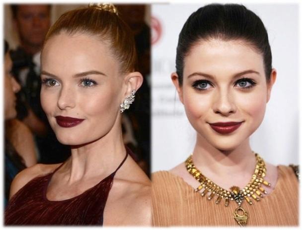 burgundy lips 1