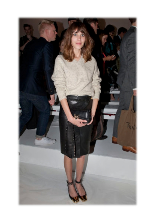 alexa chung pencil skirt