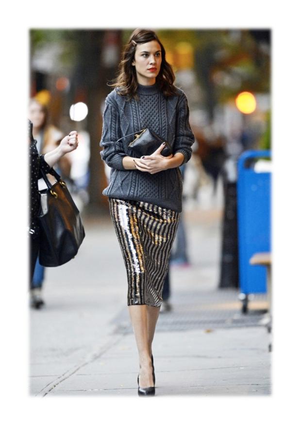 alexa chung sequin skirt