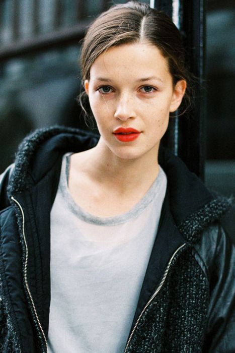 orange lips trend beauty ss14 spring make up heelsandpeplum