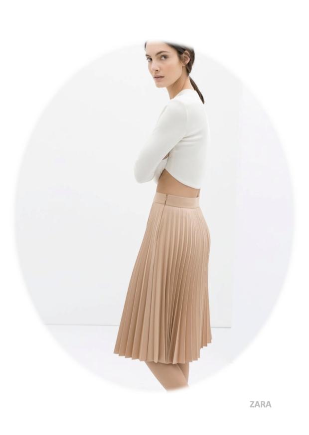 nude grey fashion zara mango cos ganni coat trends ss14