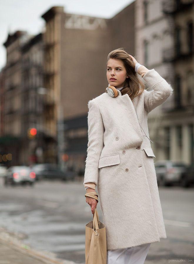 garance dore photography cream coat new york