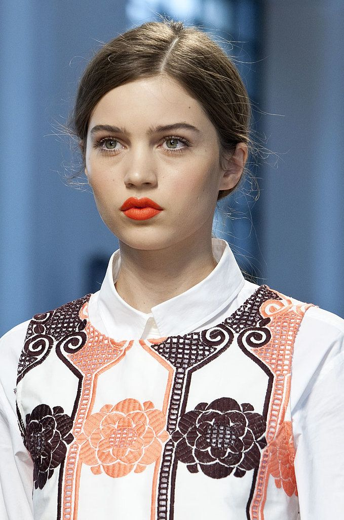 orange lips trend beauty ss14 spring make up heelsandpeplum