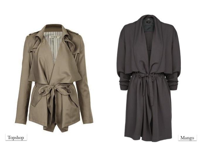 green parka coat Topshop Mango fashion SS14