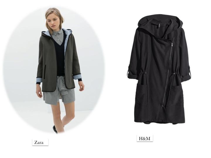 green parka coat Zara H&M fashion SS14