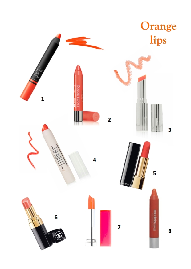 orange lipsticks tangerine lipsticks chanel bourjois topshop trend beauty