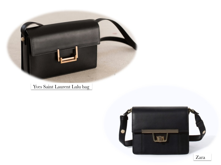 Yves Saint Laurent Lulu bag clon Zara