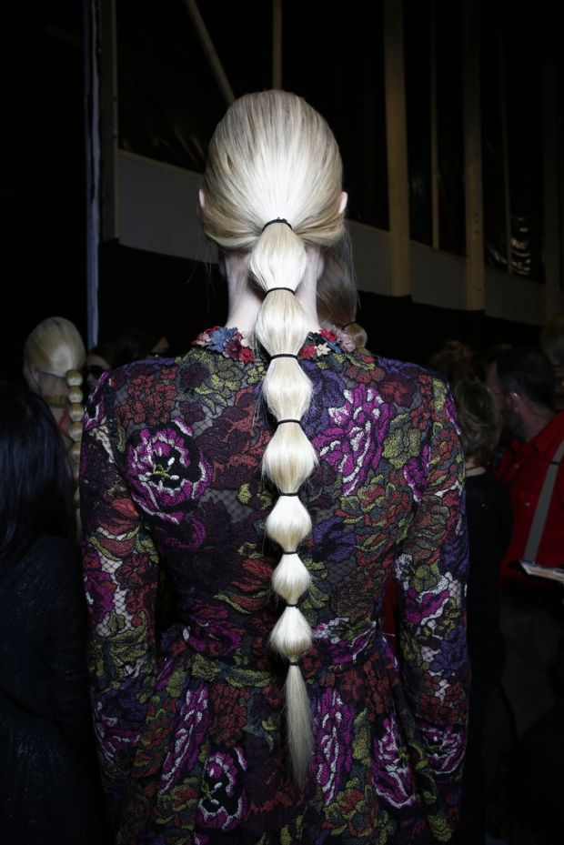 valentino fw14 backstage hair makeup heelsandpeplum fashion