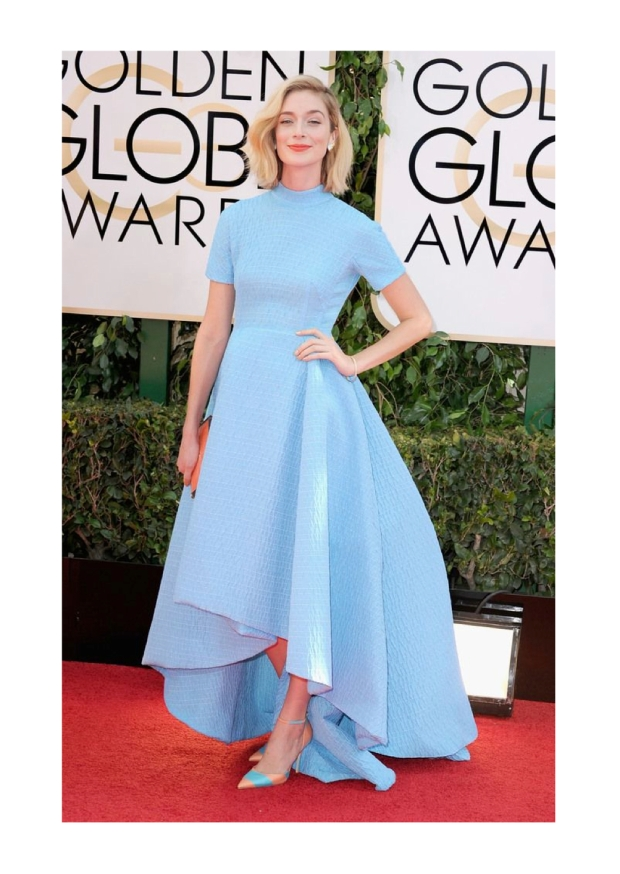 caitlin fitzgerald wearing emilia wickstead golden globes awards