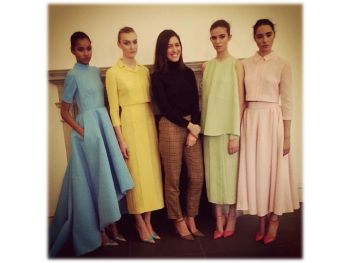 emilia wickstead LFW models and designer