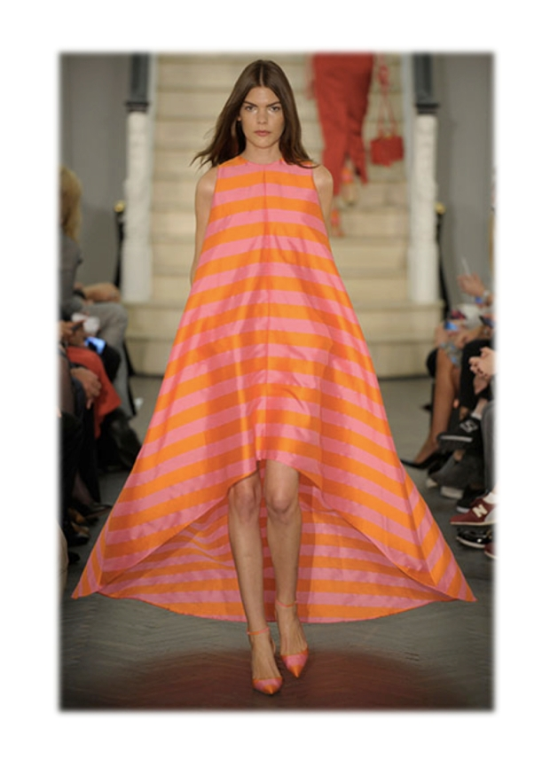 emilia wickstead ss14 stripes orange and pink heelsandpeplum