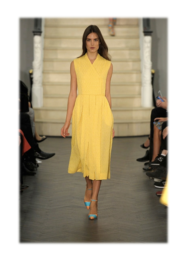 emilia wickstead ss14 yellow dress heelsandpeplum