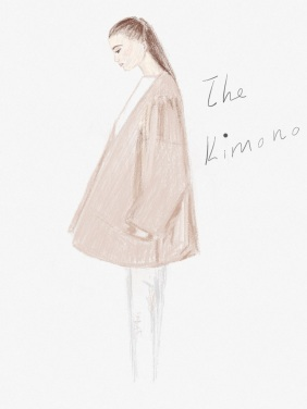 heelsandpeplum illustration fashion blog mango kimono