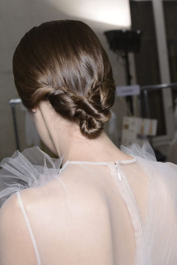 valentino bun hair beauty backstage