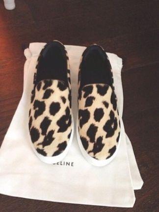 Céline slip-on animal print fashion shoes