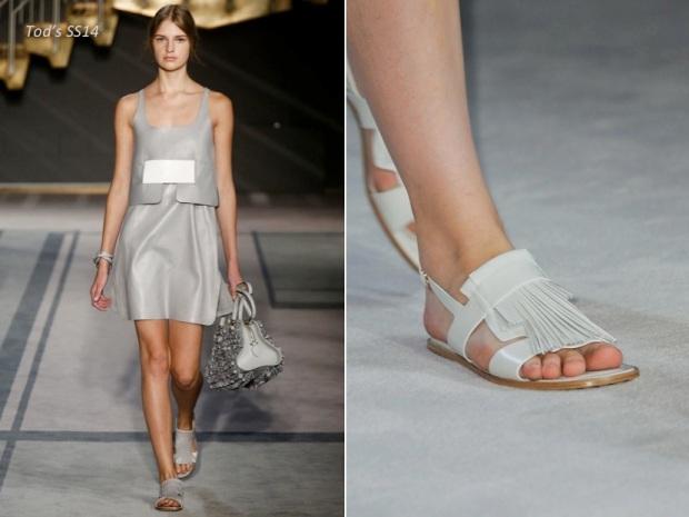 uterqüe tod's clon ss14 sandals fringe sandalias de flecos fashion moda heelsandpeplum