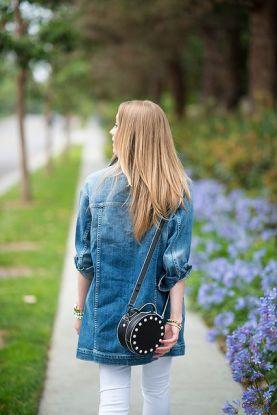 street-style denim jacket oversized fashion moda trend