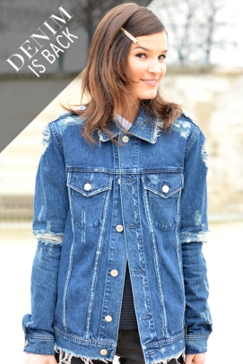 street-style denim jacket oversized fashion moda trend HANNELI MUSTAPARTA