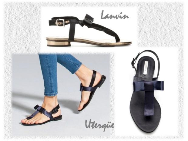 lanvin gross grain bow flat sandals uterqüe