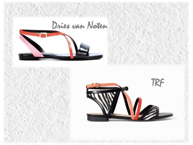 dries van notten color strap sandals trf