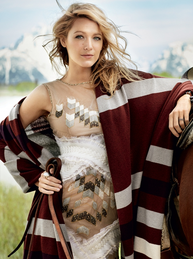 Blake Lively photographed by Mario Testion Vogue USA August 2014