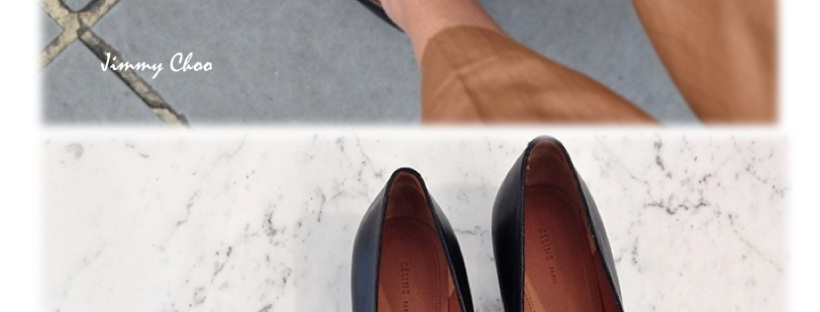 The Northern Light wearing Jimmy Choo pointy loafers