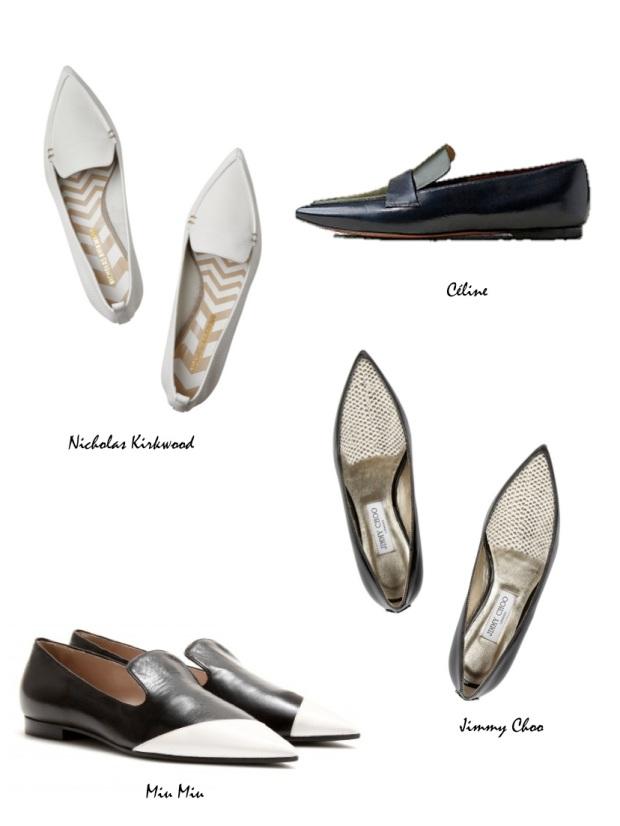 Pointy Loafers trend fall 2014 Nicholas Kirwood Céline Miu Miu jimmy Choo