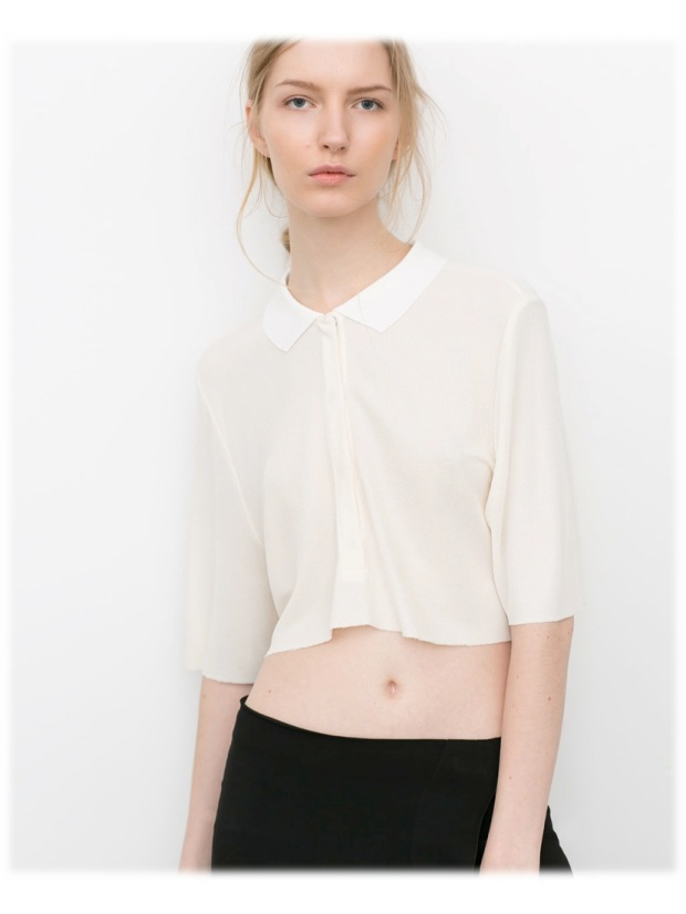 zara crop top sales cotton midi summer ss14 heelsandpeplum
