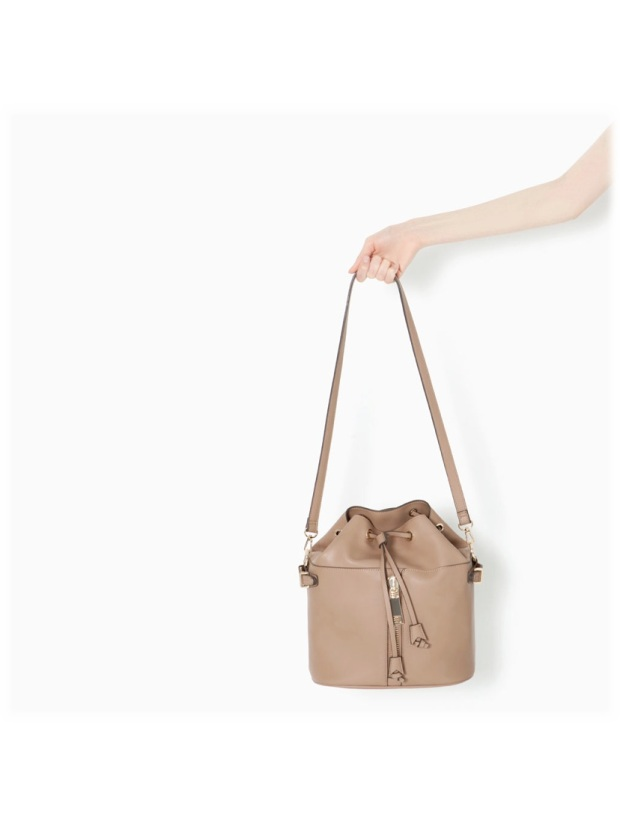 bucket bag beige zara aw14 style fashion heelsandpeplum