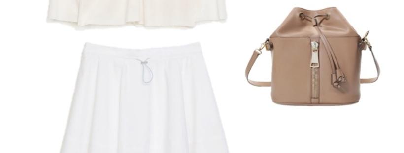 look bargain zara style fashion bucket bag flats midi skirt heelsandpeplum