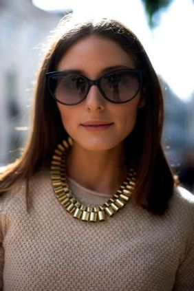 Olivia Palermo street-style necklaces