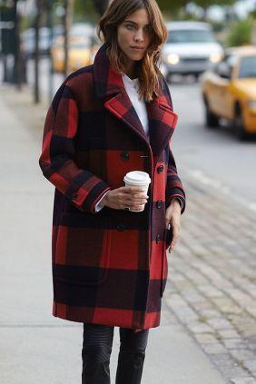 alexa chung hilfger plaid coat