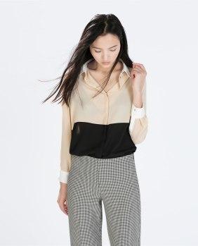 Zara bicolor shirt