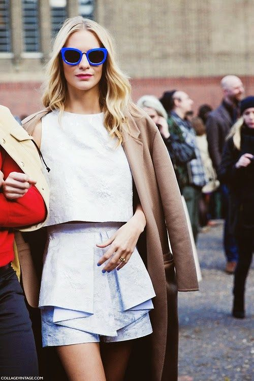 camel and white street style poppy delevingne