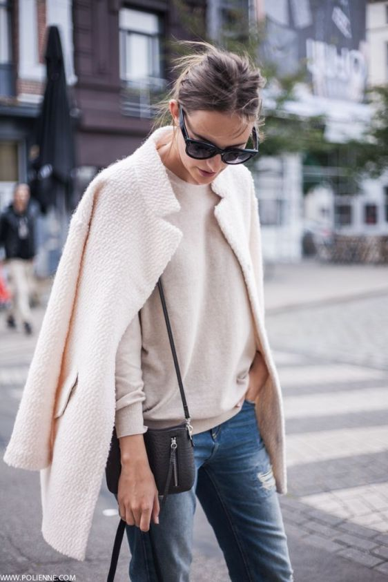 pink coat street style the polienne