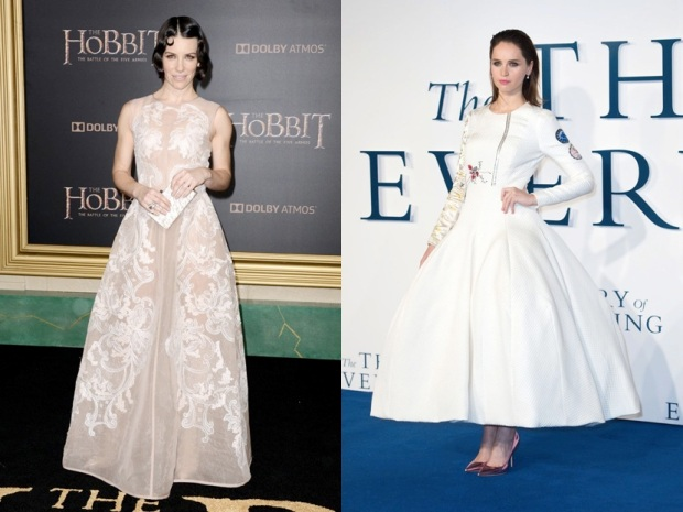 FELICITY JONES THE THEORY OF EVERYTHING DIOR ALBERTA FERRETTI THE HOBBIT LILLY JAMES