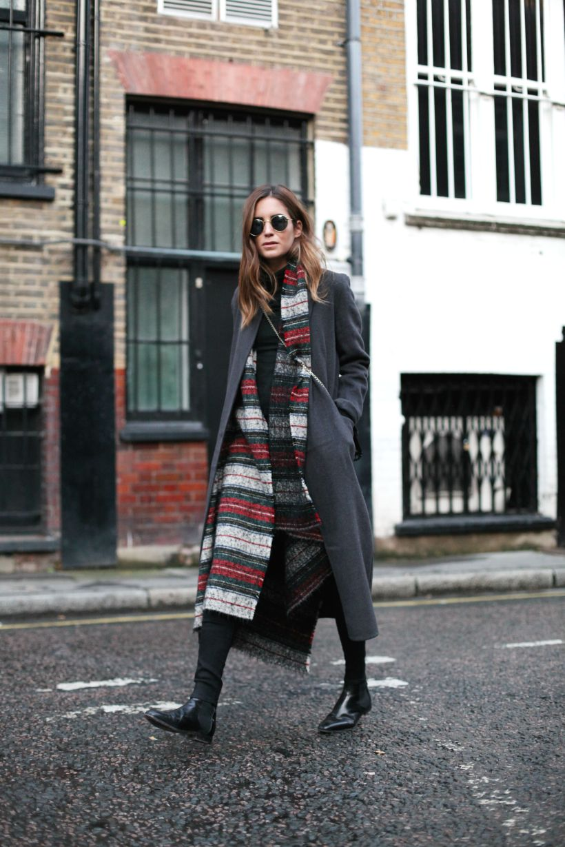 Amlul Sandro long coat Jimmy Choo booties streetstyle
