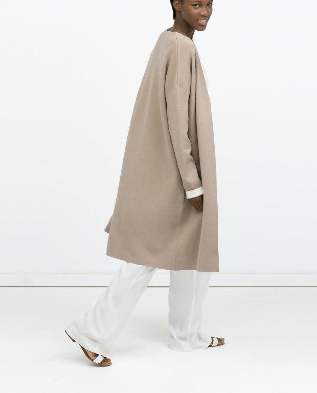 abrigo doble faz sin cuello zara ss15 heelsandpeplum