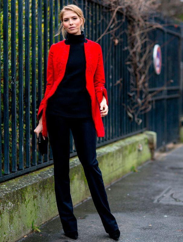 Elena Perminova wearing Dior atParis Fashion Week street style PFW Spring 2015 Couture