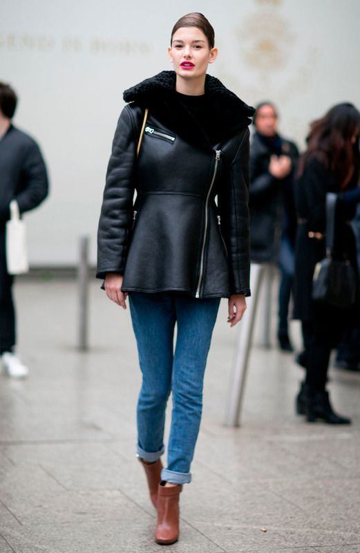 Paris Fashion Week street style PFW Spring 2015 Couture models off duty