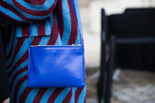 Dries Van Noten coat and Céline bag Paris Fashion Week 2015 streetstyle Haute Couture PFW