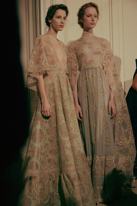VALENTINO HAUTE COUTURE SS15  BACKSTAGE PHOTOGRAPHED BY LEA COLOMBO