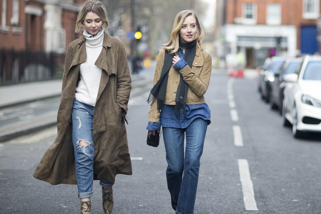 Flo Van Der Spek and Sarah Mikaela_london fashion week fall 2015