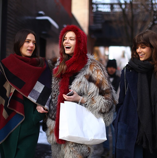 Models off duty street style New York Fashion Week street style