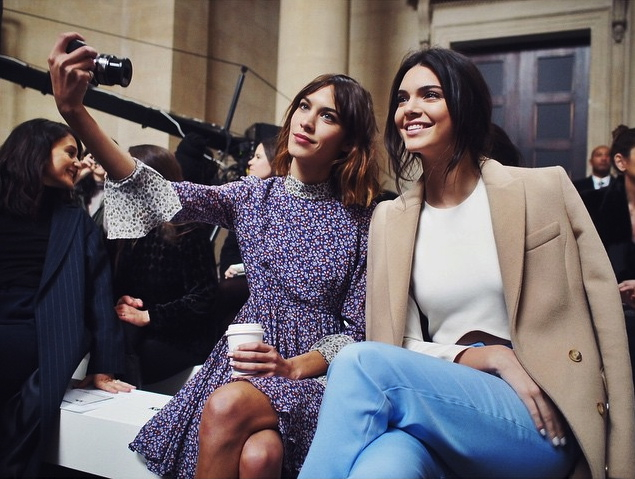 Topshop Unique Fall 2015 London Fashion Week Alexa Chung Kendall Jenner