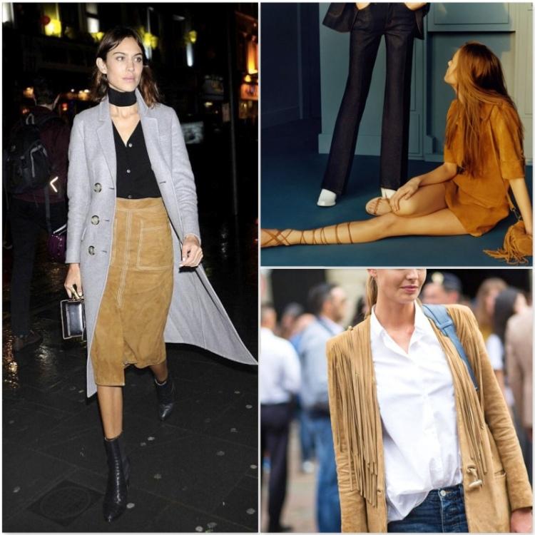 alexa chung street style  suede Trend alert fashion suede 15 heelsandpeplum