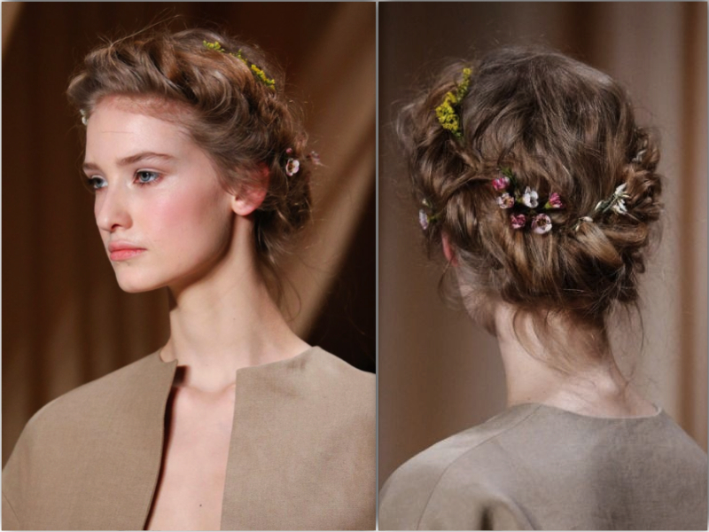 valentino ss15 runway hair style flower crown2