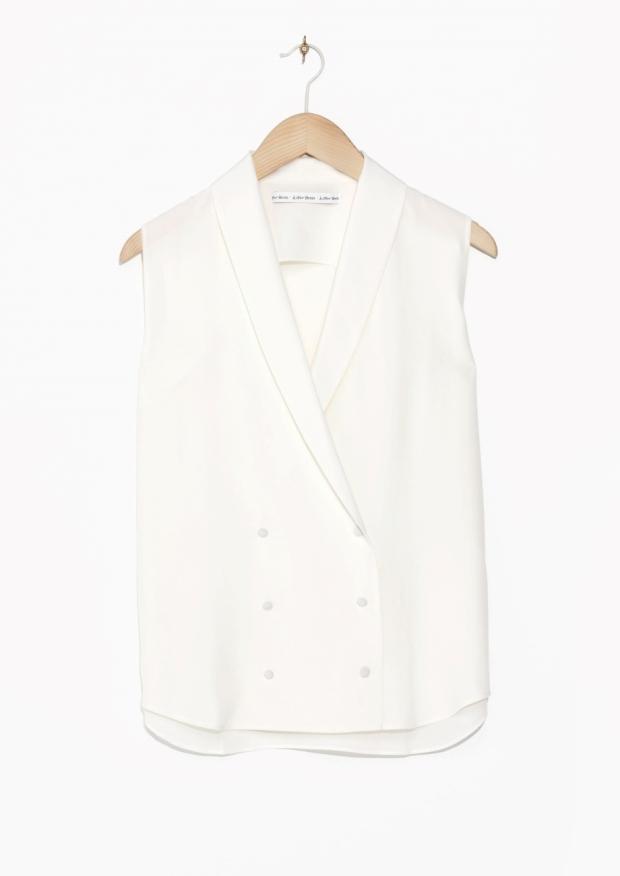 blouse vest & other stories ss15 heelsandpeplum